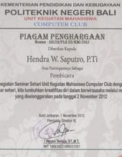 Unit Kegiatan Mahasiswa Computer Club Politeknik Negeri Bali
