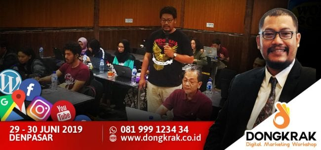 Workshop Digital Marketing 29-30 Juni 2019
