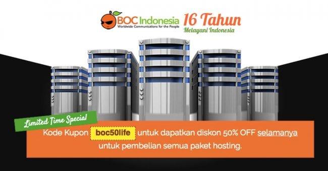 Promo web hosting diskon 50%