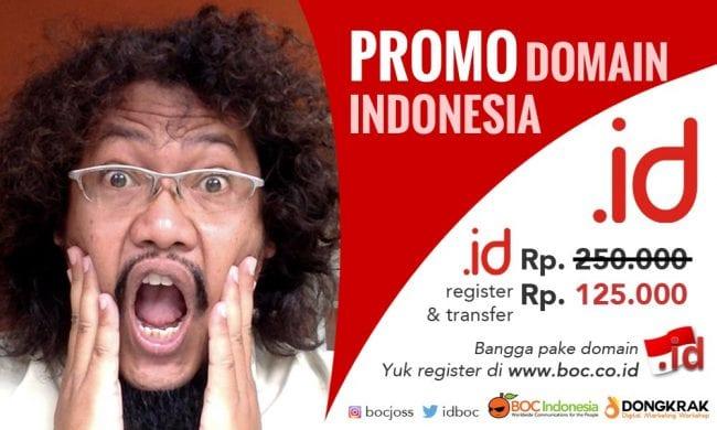 Promo domain name dot id Indonesia