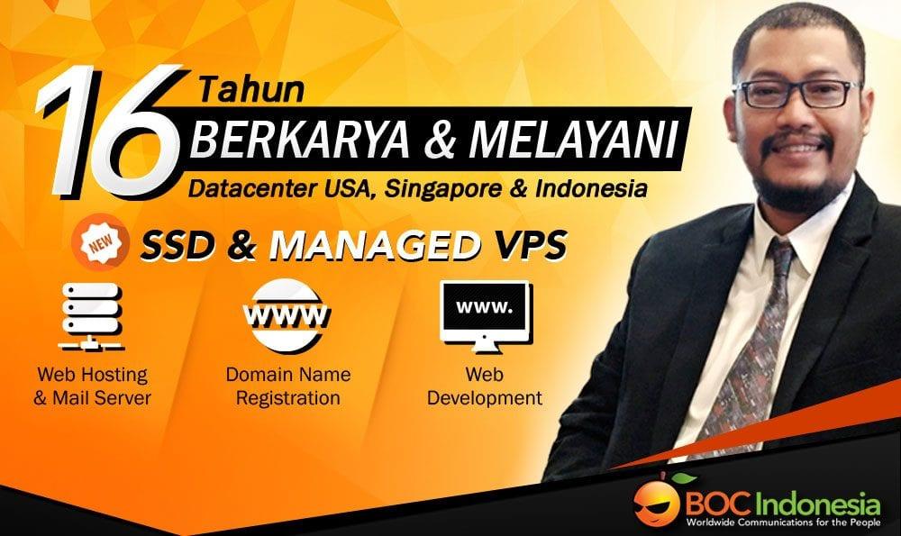Web hosting SSD dan Managed VPS di Bali dan seluruh Indonesia