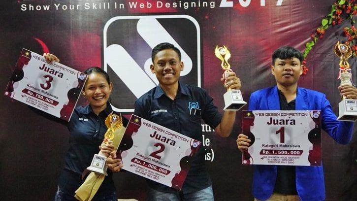 Juara Lomba Web Design di Bali dari PNBWDC 2019