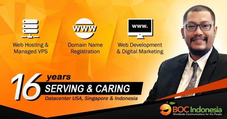 Versi Bahasa Inggris Layanan Web Hosting dan Domain Name