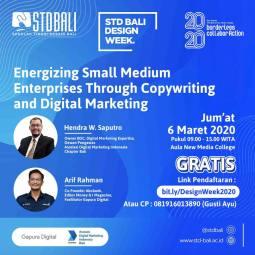 Seminar Digital Marketing di STD Bali Design Week 2020