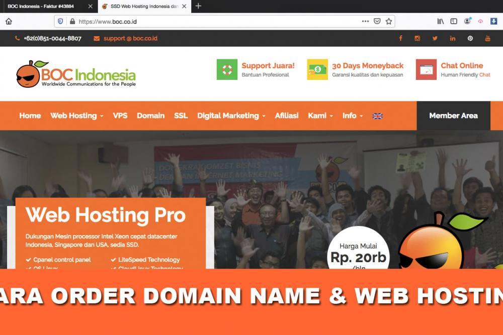 Cara beli web hosting