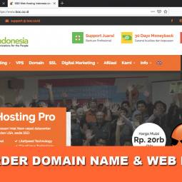 Cara Beli Web Hosting dan Domain Name di BOC