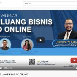 Webinar Go Online di ITB STIKOM Bali Kampus Jimbaran