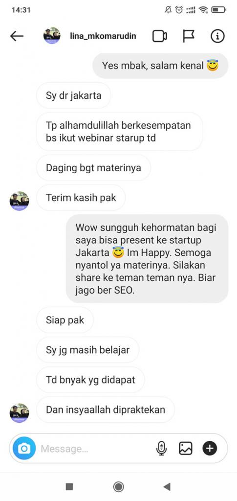 Testimonial startup workshop online