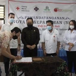 PMI Bali MoU Dengan BOC Indonesia, PHRI Bali & BHA
