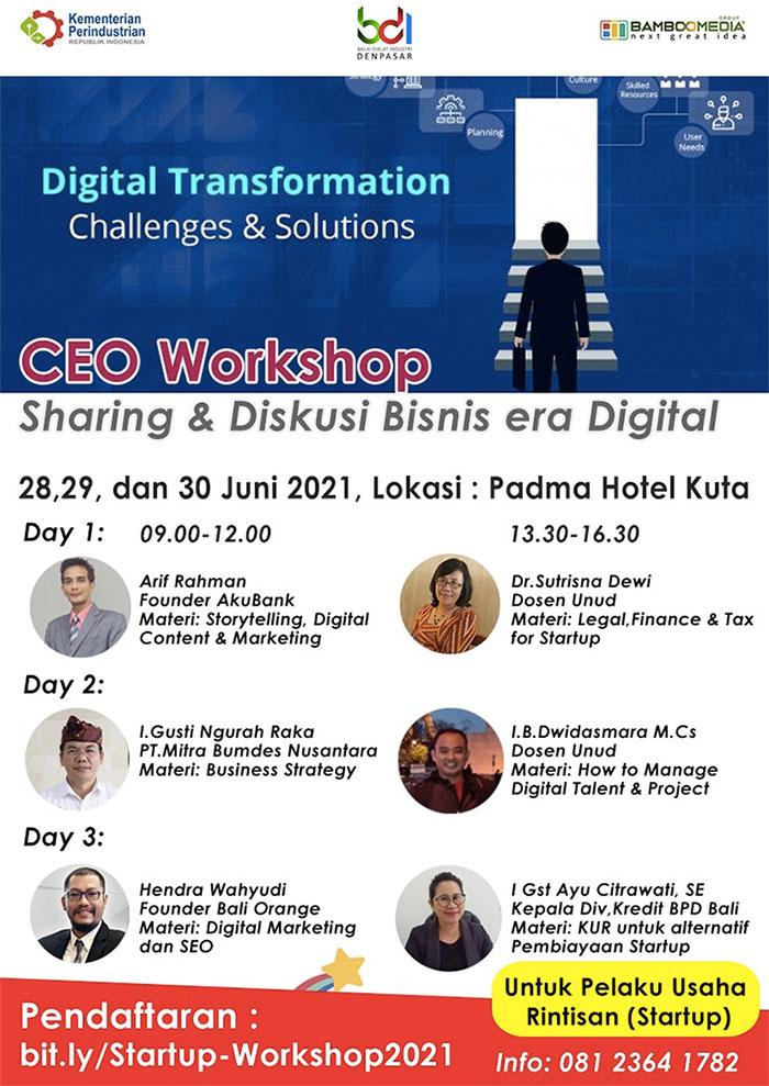 CEO Workshop Flyer