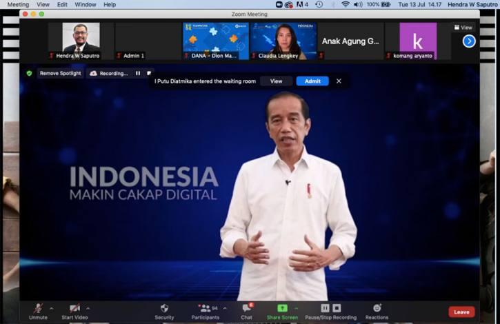 Presiden Joko Widodo Program Literasi Digital Nasional